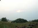 Закат в дыму от торфянников